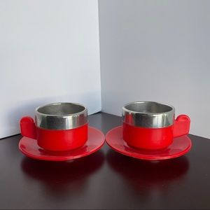 Vintage, Insulated thermal espresso cups